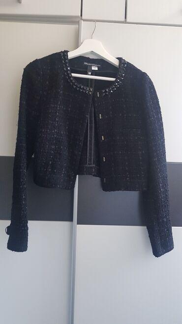 Sako crne boje - Srbija: Prelep ženski sako,38 veličina,malo nošen,kao nov,boja crna