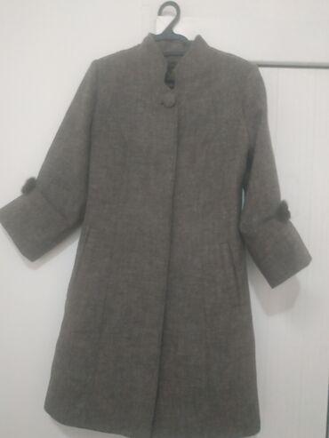 жен пальто в Кыргызстан: Пальто лама кашемир 42-44р