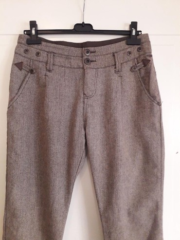 Pantalone tifany kroj - Srbija: TIME OUT 40 Vunene pantalone,klasican kroj,postavljene pojas malo