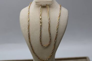 Аксессуары - Бишкек: Набор из комбинированного золота.585 прВес 10,18грДлина цепи 50смДлина