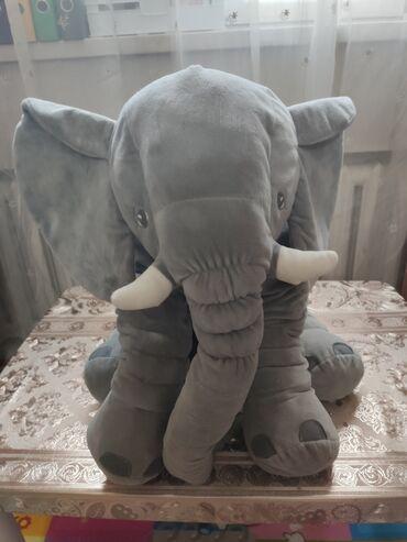 """Мягкая игрушка """"Слон"""", высота около 60 см, в хорошем состоянии"""