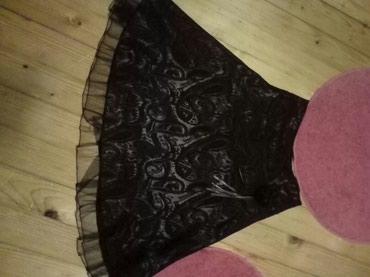 Suknja,braon boje,vel.36 duzina je 62cm, poluobim 33ccm savrsena je. - Pancevo