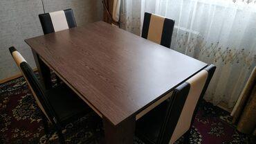 | Xırdalan: 6 nəfərlik stol(açılanda 8 nəfərlik), stul satılır. Təzədir