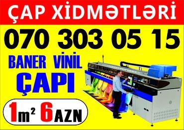 Bakı şəhərində Baner vinil capi reklam isleri