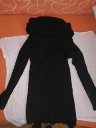 Haljina-sa-sljokicama - Srbija: Tunika-haljina crna sa sljokicama prelepo stoji uz telo vel XS manji S