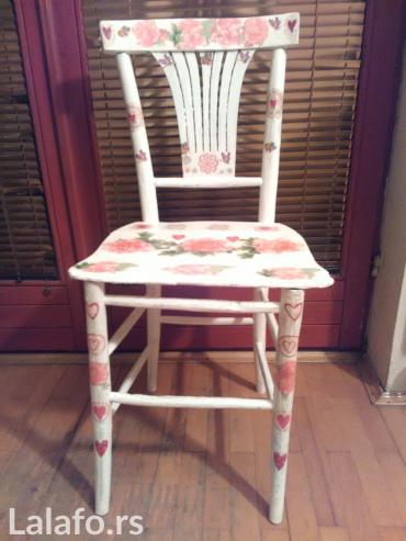 Etno stolica rađena dekupaž tehniko - Krusevac