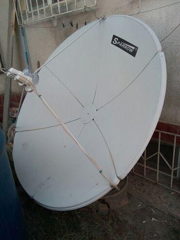 Кабели синхронизации cellular line - Кыргызстан: Продаю б/у спутниковую антенну с 2 головками, ресивер с пультом