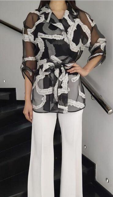 Шикарный костюм 3 ка (кимоно из органзы+шелковый топ на тонких