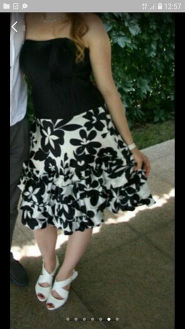 Продается б.у платье, черно- белое, в Бишкек