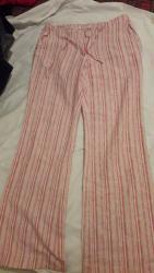 Ženska odeća | Pozarevac: Lanene Bez crveno bordo pantalone, extra kvaliteta, velicina