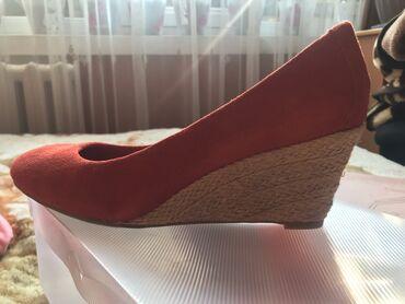 сары озон городок бишкек в Кыргызстан: Новые туфли на танкетке. Классный насыщенный цвет. Натуральная замша