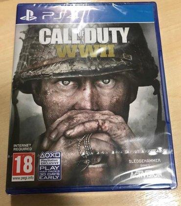 Bakı şəhərində Ps4 üçün call of duty WW2 oyun disk satılır
