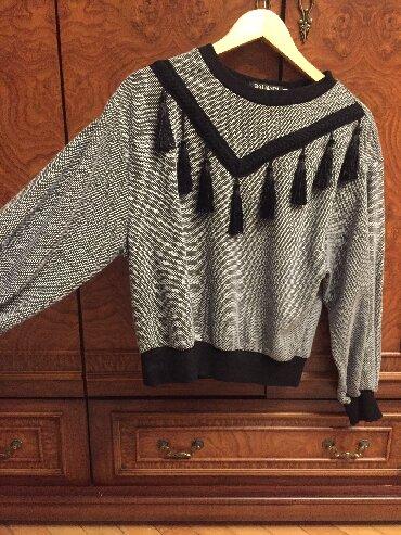 женские-серые-свитера в Азербайджан: Kofta 2 dafa geyinilib,38 razmer,xaricdan alinib