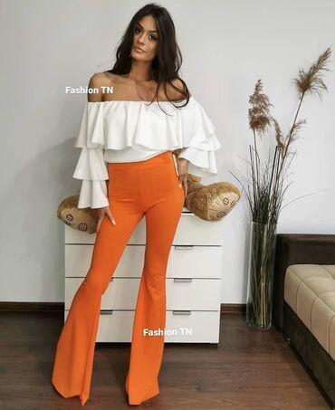Pantalone vekivina - Srbija: Prelepe narandzaste zvonare. Veličina je s-m. Može se posebno kupiti a
