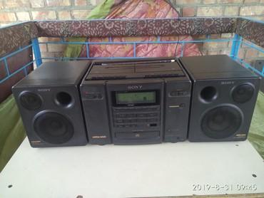 Динамики и музыкальные центры в Кок-Ой: Магнитофон SONY CFD-757. Раритет в очень хорошем состоянии. Работает (