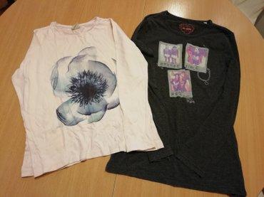 Komplet od dve majice dugih rukava za uzrast oko 10 godina.   Za - Beograd