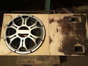 Электроника - Чолпон-Ата: Продаю короб под сабвуфер из фанеры с двойным коридором под 25