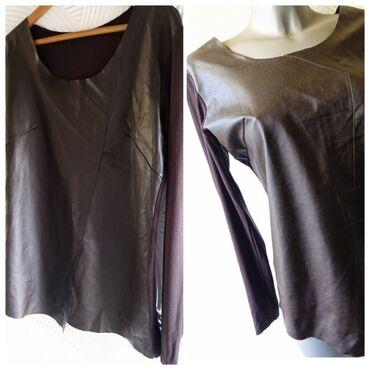 Zara L NovaDivna nova Zarina bluza sa koznim prednjim delom Pazuh od