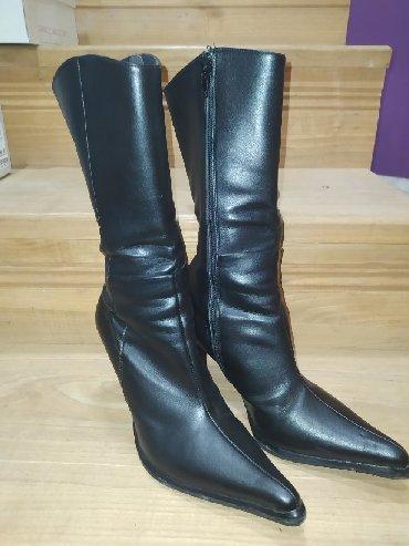 Ženska obuća | Cuprija: Na prodaju čizme od eko kože u br 35. (duzina je malo ispod