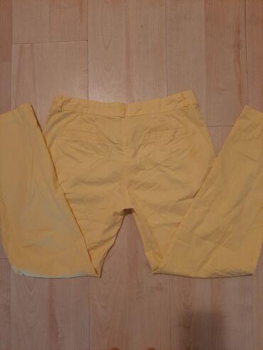 Poslovne pantalone - Srbija: Petra zute pantalone,odlicne za poslovne prilike,poluobim struka 36