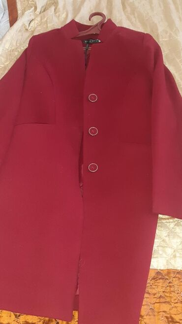 Пальто - Кок-Ой: Пальто бордовый цвет