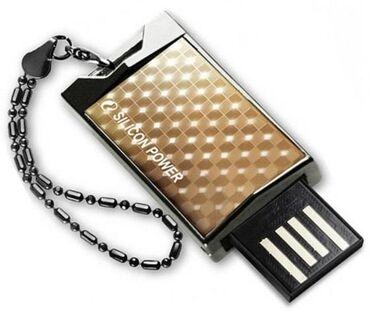 Карты памяти в Кыргызстан: Флешка -Silicon Power 4GB Touch 851 Flash USB 2.0 Black.Классическая