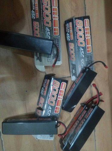 li-po аккумуляторы 8000mAh 2s 45c 7.4v новый в Бишкек