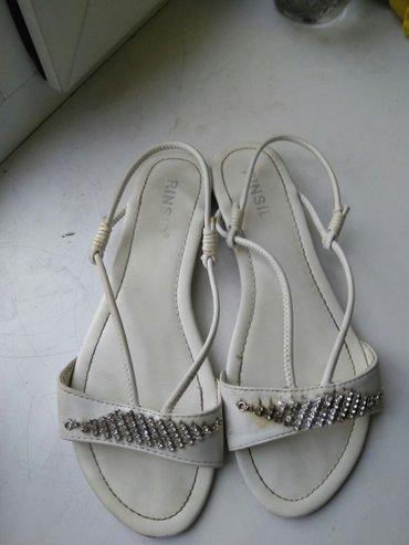 белые сандалии, размер 39. в Бишкек