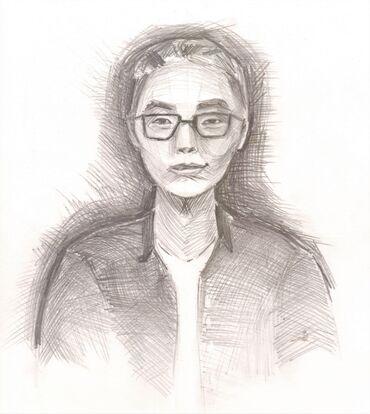 На заказ. Портрет карандашом- формат А4 - 350 сом. (без рамки)Быстрое