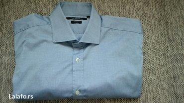 Na prodaju nova Azzaro košulja plave boje, velicina L slim, uži - Nis