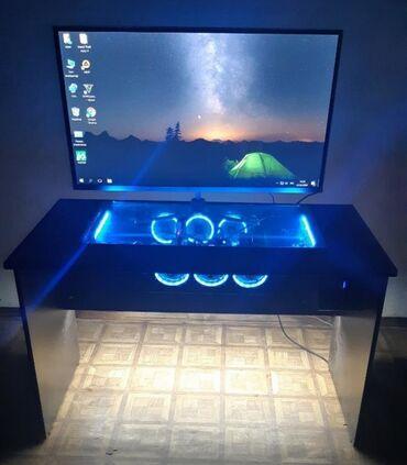 Игровой компьютер + игровой стол 2 в 1 Ручная работа пк встроенный в