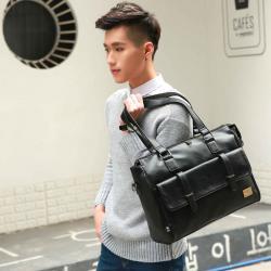 сумка черного цвета в Кыргызстан: Сумка-саквояж из эко кожи————–—••——————Материал: экокожа с PU