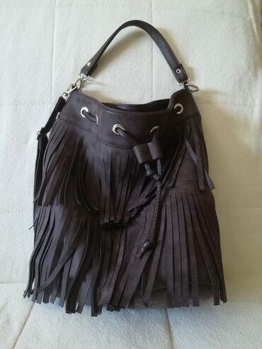 Kozna torba - Srbija: Braon torba od eko koze, moze da se nosi i kao ranac. Kao nova