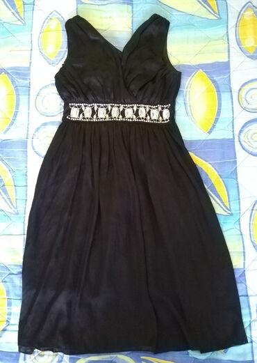 Personalni proizvodi - Cacak: Haljina crna veličine 40 prijatna, lagana, svilena, elegantna, dužina