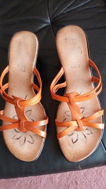 Kozne papuce divne boje broj 37. duzina gazista 23.5 cm odozdo guma. - Paracin