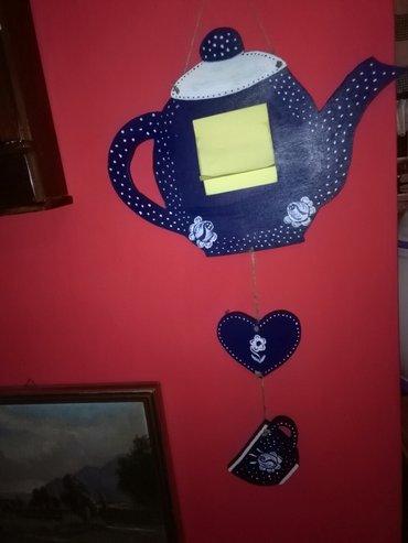 Ukras podsetnik,veoma dekorativno za kuhinju,od plavog drveta. ko voli - Sombor