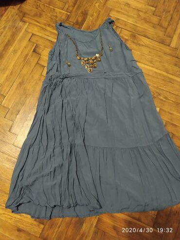 Haljina-s-msandale-poklon - Srbija: Haljina indigo plavo,letnja,leprsava sa postavom do kolena.Vel Xl ali