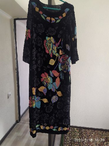 платья из панбархата на шифоне в Кыргызстан: Шикарное платье. Ткань панбархат на шифоне. Одевала три раза. Состояни