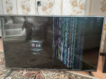 107 ekran LG telvizoru prosdu ekran asmasi neticesinde bele birsey