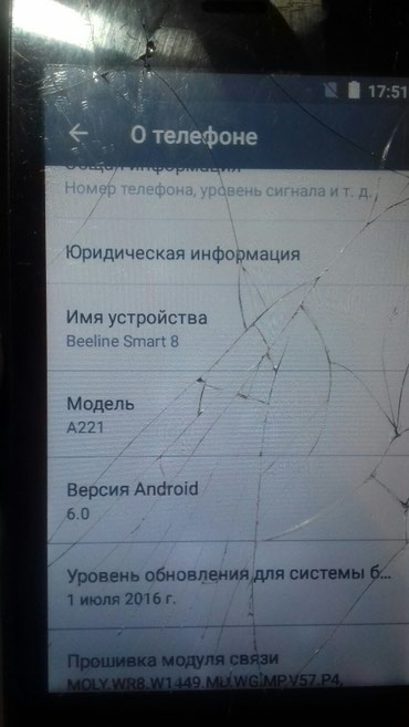 Beeline Smart 8 (A221) Android 6 в Бишкек