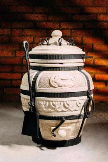 """Тандыр """"Охотник""""Изготовлен из шамотной глины.Толщина стенки 5см.Высота"""
