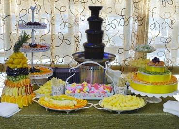 шоколадный фонтан в Кыргызстан: Шоколадный фонтан Бишкек! Шоколад премиум-класса + фруктовые нарезки!