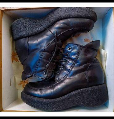 Кожаные ретро ботинки 36 размер