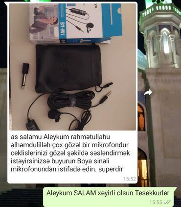 гитарный микрофон в Азербайджан: Orginal Boya BY M1 • Rəqəmsal smartfonlar üçün Lavalier mikrofonu SLR
