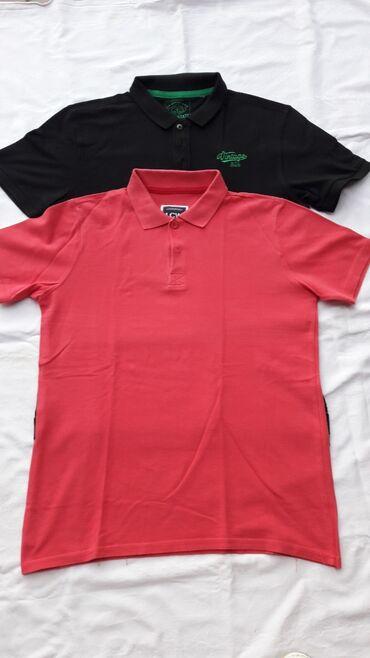 Muske majice sa kragnicom 2 komada u odlicnom stanju (crvena S crna