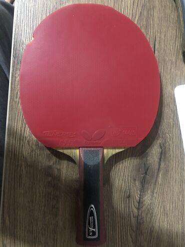 Ракетки - Бишкек: Продаю ракетку для настольного тенниса Butterfly Mizutani + Накладки