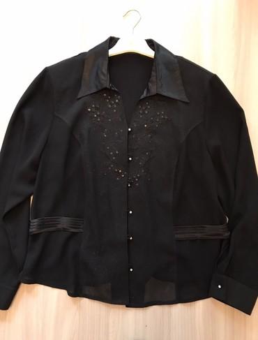 Турецкая новая блузка.54раз. Креп шифон сзади трикотаж