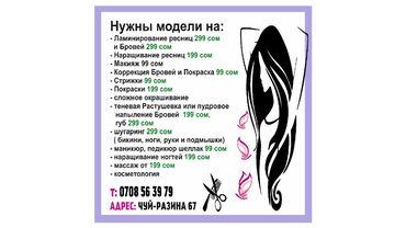 Обучение, курсы - Кыргызстан: Курсы   Парикмахеры, Косметологи-визажисты, Мастера депиляции   Выдается сертификат, Предоставление расходного материала, Предоставление моделей