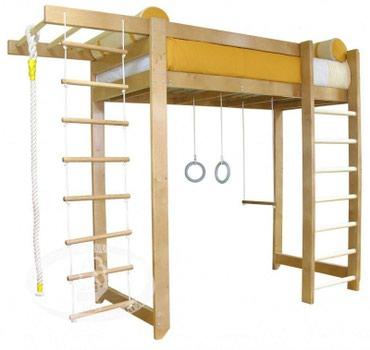 Кровать чердак + спортивный комплекс в Кок-Ой