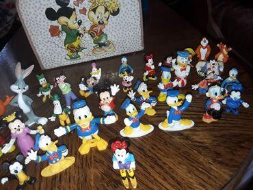Figurine | Srbija: Disney set sa koferom iz 90tix. Paja patak,dusko duguosko,miki
